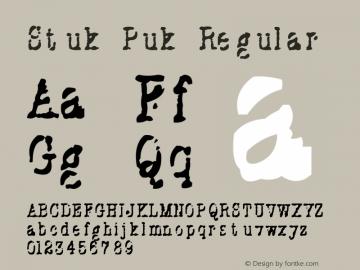 Stuk Puk Regular Version 1.1图片样张