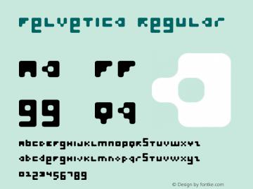 Felvetica Regular Macromedia Fontographer 4.1.5 01-02-13 Font Sample