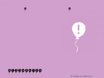 Amnon-Balloon Amnon-Balloon Amnon-Balloon Font Sample