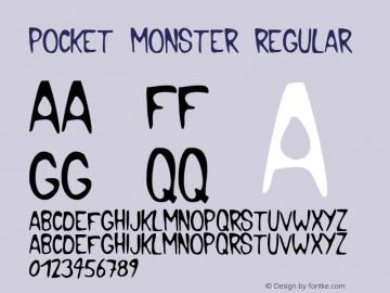 Pocket Monster Regular 1.0 Wed Mar 17 14:58:32 1999 Font Sample