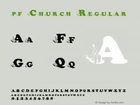 pf_Church Regular 2001; 1.0, initial release图片样张