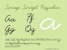 Scrap Script Regular 7/25/1998 Font Sample