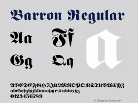 Barron Regular Rev. 002.001 Font Sample