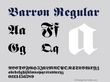 Barron Regular Rev. 002.001 Font Sample