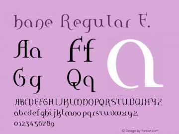 hane Regular E. Macromedia Fontographer 4.1J 01.2.14图片样张