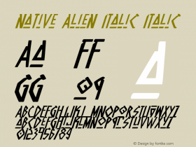 Native Alien Italic Italic 1图片样张