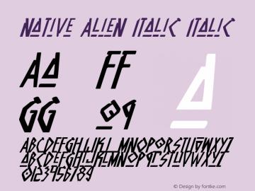 Native Alien Italic Italic 1 Font Sample