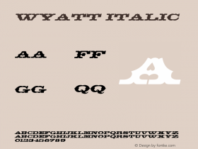 Wyatt Italic Altsys Fontographer 4.1 5/24/96图片样张