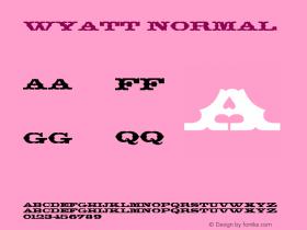 Wyatt Normal Altsys Fontographer 4.1 5/24/96图片样张