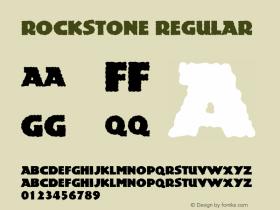 Rockstone Regular Macromedia Fontographer 4.1 5/6/96 Font Sample