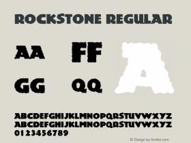 Rockstone Regular Version 1.95.002 Font Sample