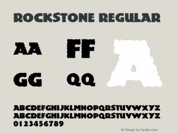 Rockstone Regular Version 1.95.002图片样张