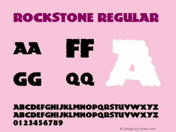 Rockstone Regular Macromedia Fontographer 4.1 5/6/96图片样张