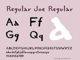 Regular Joe Regular Altsys Fontographer 4.0.2 3/17/94图片样张