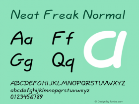 Neat Freak Normal Altsys Fontographer 4.1 5/24/96 Font Sample