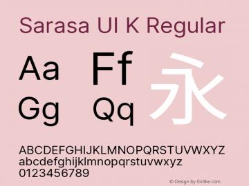 Sarasa UI K Version 0.11.0; ttfautohint (v1.8.3) Font Sample