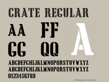 Crate Regular Macromedia Fontographer 4.1 5/6/96 Font Sample