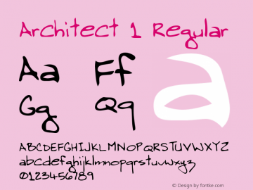 Architect 1 Regular Macromedia Fontographer 4.1 5/30/96图片样张