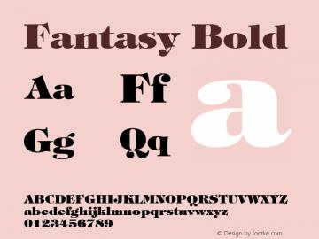 Fantasy Bold Font Version 2.6; Converter Version 1.10 Font Sample