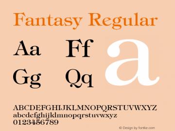 Fantasy Regular Font Version 2.6; Converter Version 1.10 Font Sample