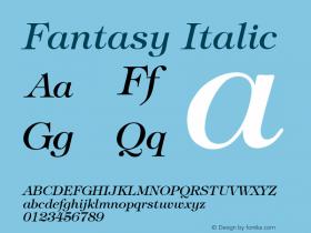 Fantasy Italic Font Version 2.6; Converter Version 1.10图片样张