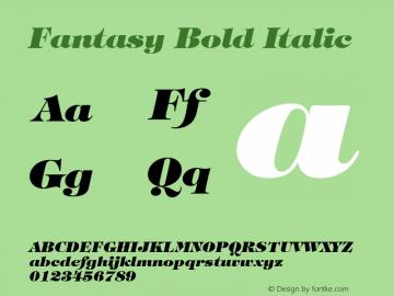 Fantasy Bold Italic Font Version 2.6; Converter Version 1.10 Font Sample