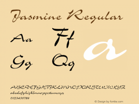 Jasmine Regular Font Version 2.6; Converter Version 1.10图片样张