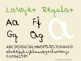 Lawyer Regular Macromedia Fontographer 4.1 5/31/96图片样张