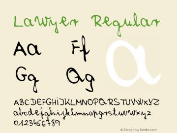 Lawyer Regular Macromedia Fontographer 4.1 5/31/96 Font Sample