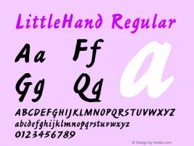 LittleHand Regular Font Version 2.6; Converter Version 1.10图片样张
