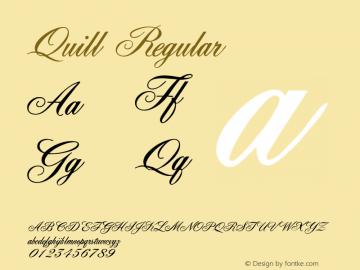 Quill Regular Macromedia Fontographer 4.1 5/6/96图片样张