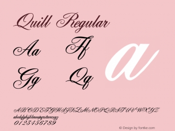Quill Regular Macromedia Fontographer 4.1 5/6/96 Font Sample