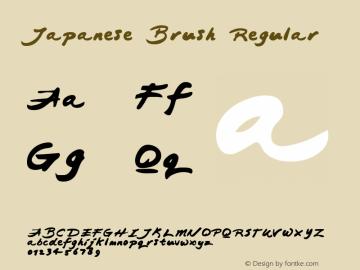 Japanese Brush Regular Macromedia Fontographer 4.1 5/23/96图片样张