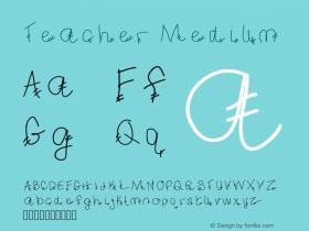 Teacher Medium Version 001.000 Font Sample