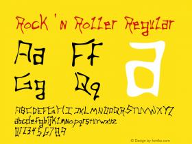 Rock 'n Roller Regular Macromedia Fontographer 4.1 5/20/96 Font Sample