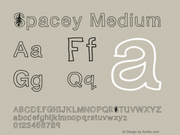 Spacey Medium Version 001.000 Font Sample