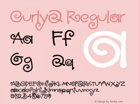 CurlyQ Regular Macromedia Fontographer 4.1.4 1/17/04 Font Sample
