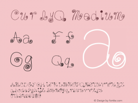 CurlyQ Medium Version 001.000 Font Sample