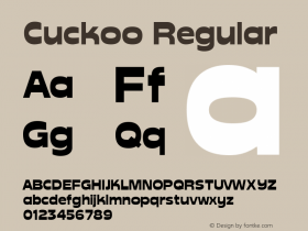 Cuckoo Regular Altsys Fontographer 3.5  9/25/92 Font Sample