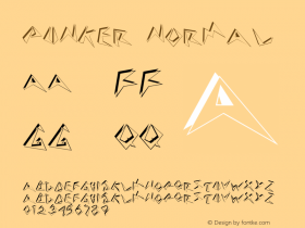 Punker Normal Altsys Fontographer 4.1 5/24/96 Font Sample