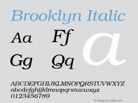 Brooklyn Italic v1.00图片样张