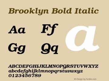Brooklyn Bold Italic v1.00图片样张