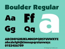 Boulder Regular Altsys Fontographer 3.5  5/26/92 Font Sample