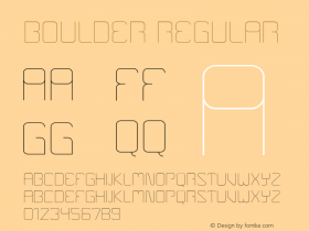 Boulder Regular Version 001.000 Font Sample