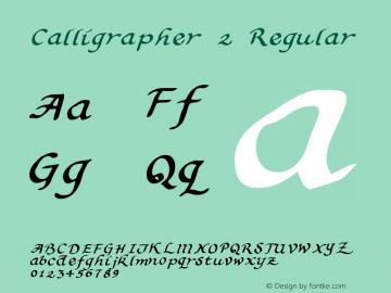 Calligrapher 2 Regular Macromedia Fontographer 4.1 5/31/96图片样张