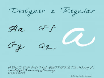 Designer 2 Regular Macromedia Fontographer 4.1 5/30/96 Font Sample