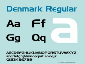 Denmark Regular Altsys Fontographer 3.5  9/25/92 Font Sample