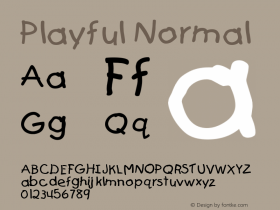 Playful Normal Altsys Fontographer 4.1 5/24/96 Font Sample