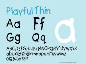 Playful Thin Altsys Fontographer 4.1 5/24/96图片样张