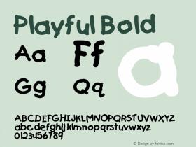 Playful Bold Altsys Fontographer 4.1 5/24/96图片样张